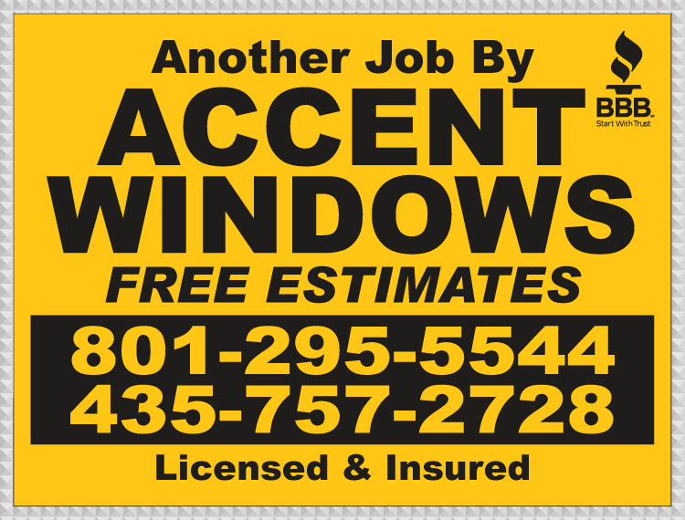 Accent Windows Yard Sign Proof