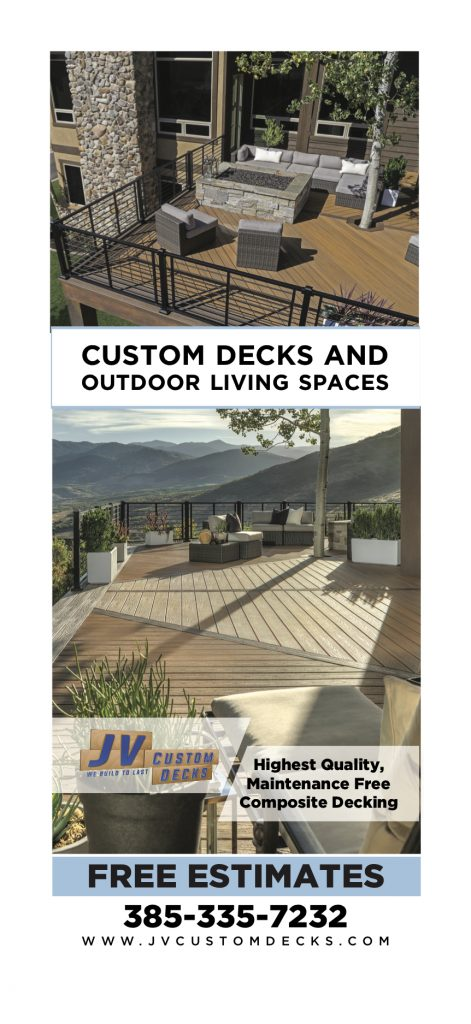 JV Custom Decks doorhanger